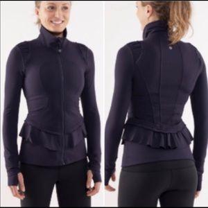 Lululemon City to Yoga Zip Up Ruffle Jacket Black